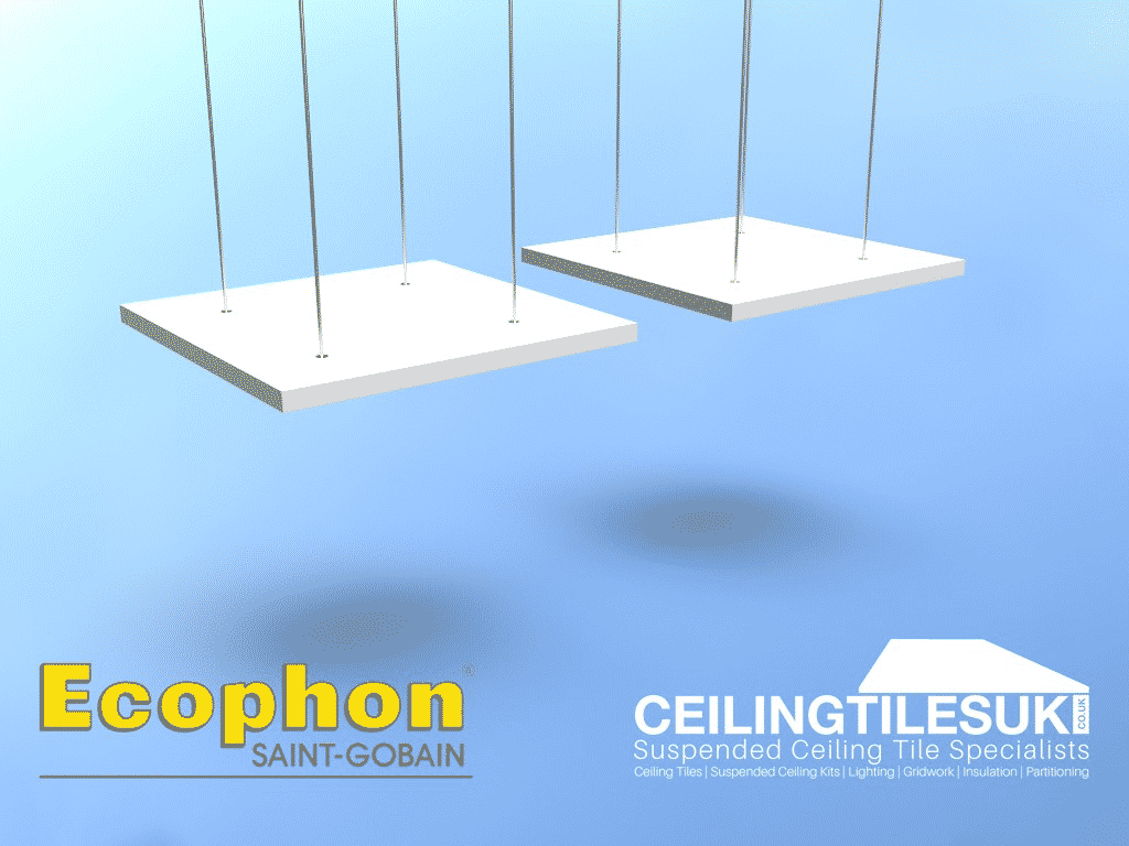 Ecophon Solo Square Free Hanging Kit 4pc 1200 X 1200mm With Fixings